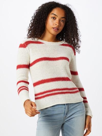 JACQUELINE de YONG Pullover 'Michelle' in rot / weiß, Modelansicht