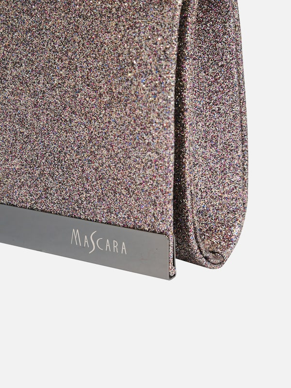 mascara Clutch mit Glitzereffekt