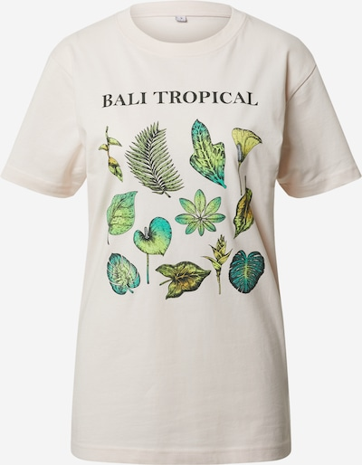 Merchcode Shirt 'Bali Tropical' in de kleur Beige / Groen, Productweergave