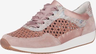 ARA Sneaker 'LISSAB' in braun / pastellpink / hellpink / weiß: Frontalansicht