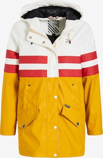 khujo Manteau mi-saison 'Nancy' en jaune d'or / rouge clair / blanc, Vue avec produit