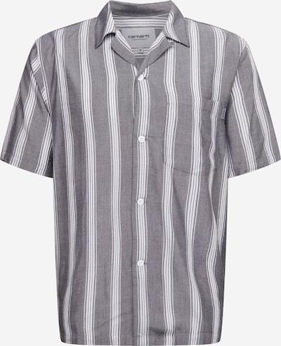Carhartt WIP Overhemd 'Chester' in de kleur Donkergrijs / Wit, Productweergave