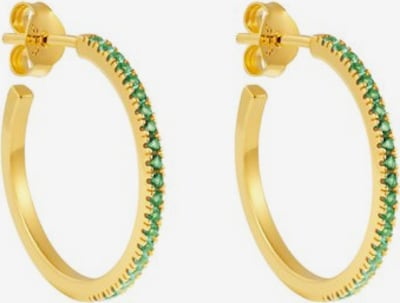 ID Fine Boucles d'oreilles 'Simplicity' en or / vert, Vue avec produit