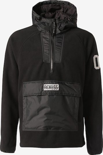 Young & Reckless Fleecepullover 'Polar Fleece' in schwarz, Produktansicht