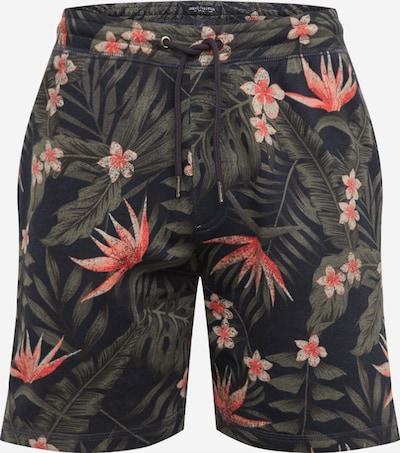 SHINE ORIGINAL Shorts in navy / dunkelgrün / dunkelpink, Produktansicht