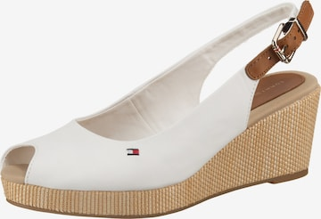 Sandale 'Elba' de la TOMMY HILFIGER pe alb