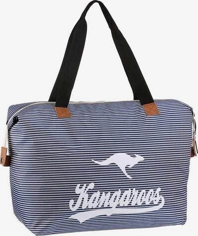 KangaROOS Strandtasche in navy / weiß, Produktansicht