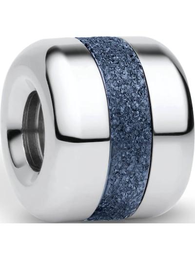 BERING Charm in blaumeliert / silber, Produktansicht