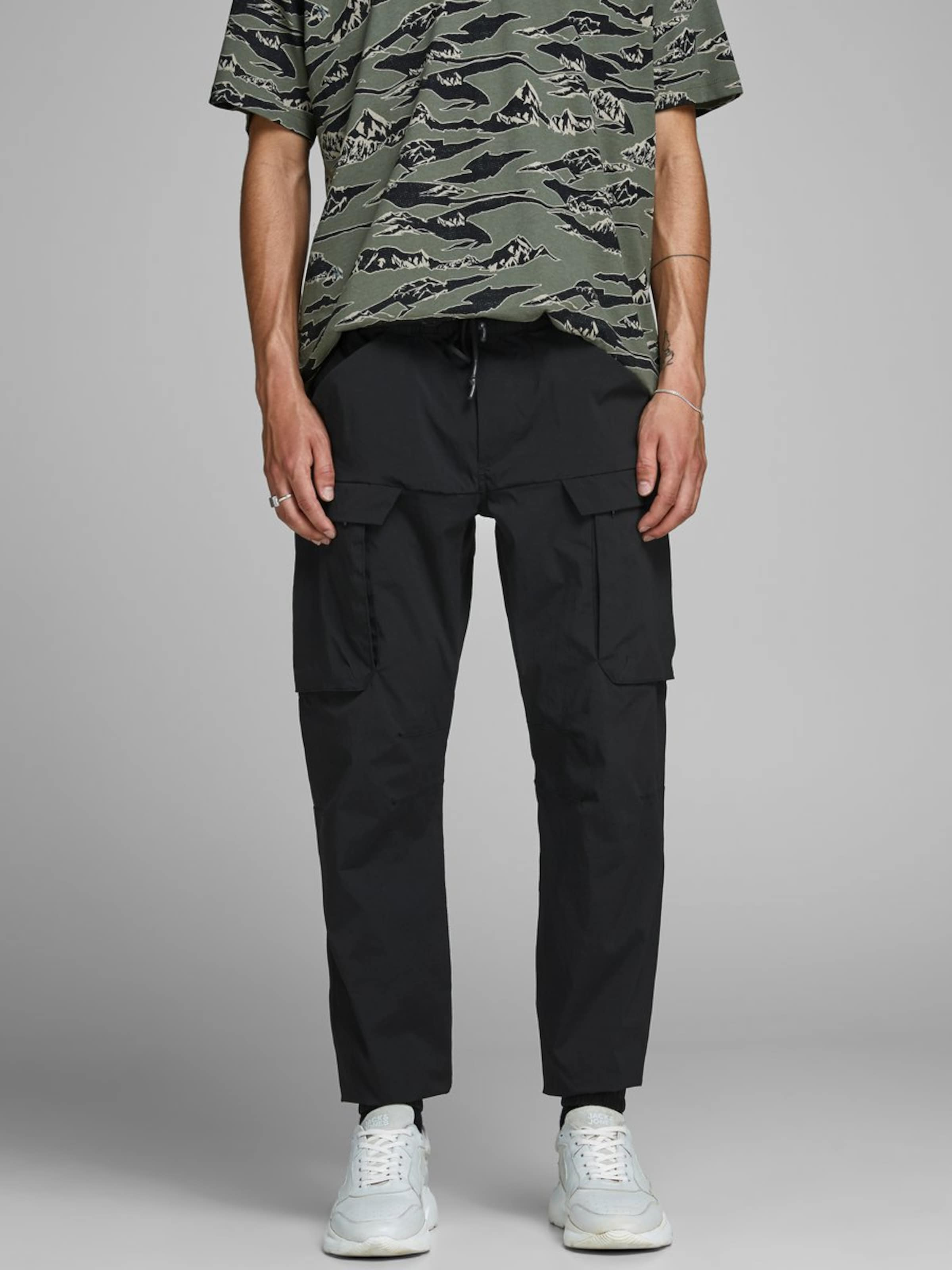 Cargo En Jones Noir Jackamp; Pantalon m08OvnwN