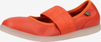 Softinos Ballerina met riempjes in de kleur Oranjerood, Productweergave