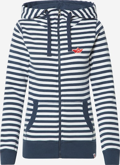 Derbe Sweatjacke 'Easy SEA' in navy / offwhite, Produktansicht