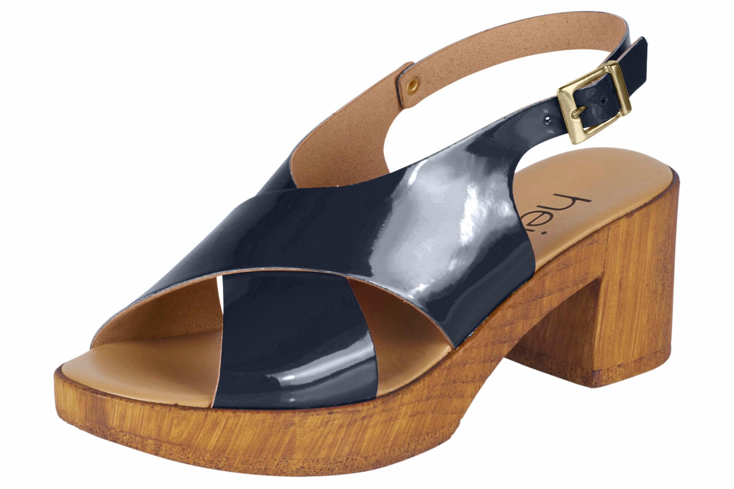 heine Sandalette in Lack-Optik Verschleißfeste billige Schuhe