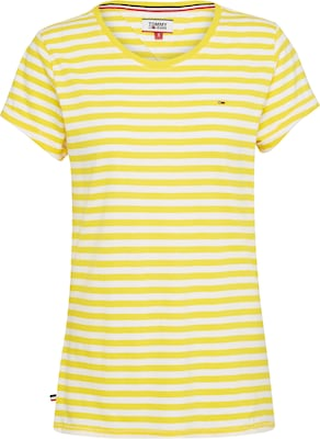 Tommy Jeans T-Shirt 'LINEN BLEND STRIPE TEE'