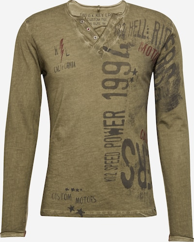 Key Largo Langarmshirt 'SPEED' in khaki, Produktansicht