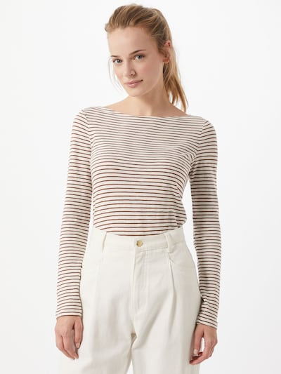 Marc O'Polo Shirt in braun / weiß, Modelansicht