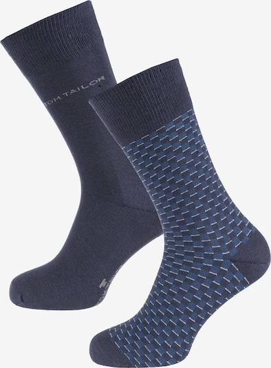 TOM TAILOR Socken 'Small Check' in blau / nachtblau / grau, Produktansicht