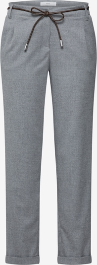 Klostuotos kelnės 'monacos' iš BRAX , spalva - pilka: Vaizdas iš priekio