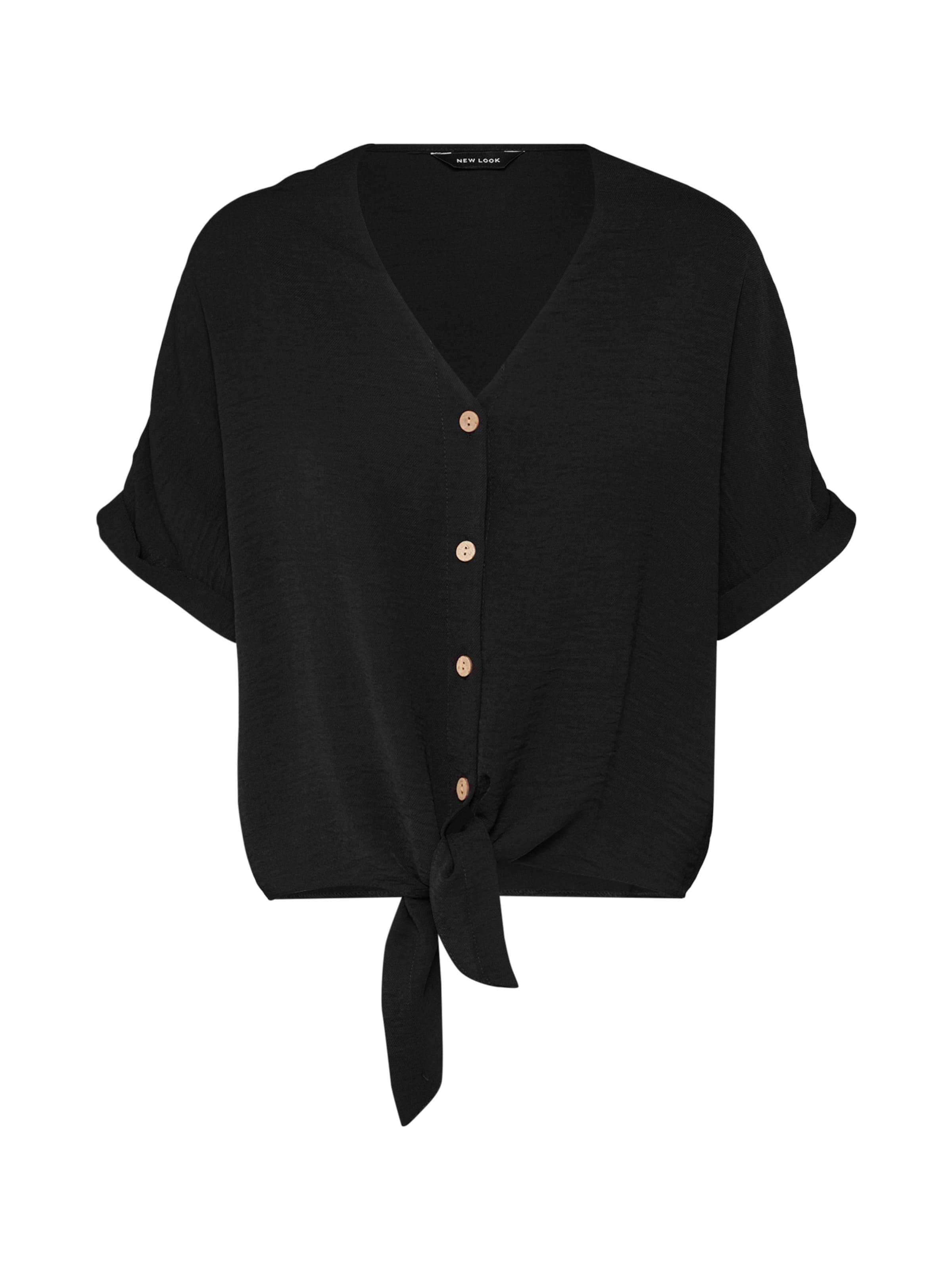 Chemisier Front 'demmie Shirt' Look Noir New Tie En kXZiuPOT