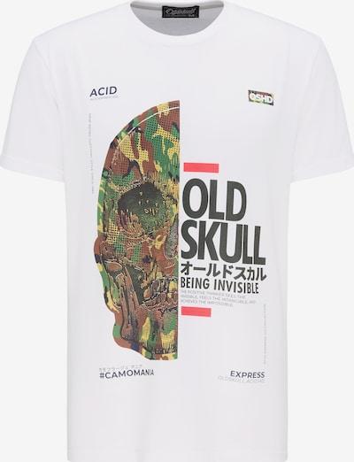 Oldskull T-shirt in mischfarben / weiß, Produktansicht
