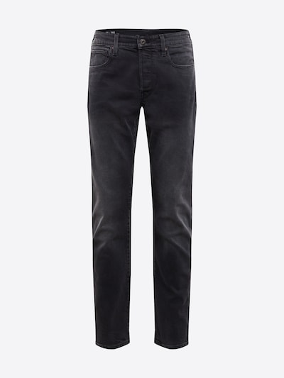 G-Star RAW Jean '3301 Tapered' en noir denim: Vue de face
