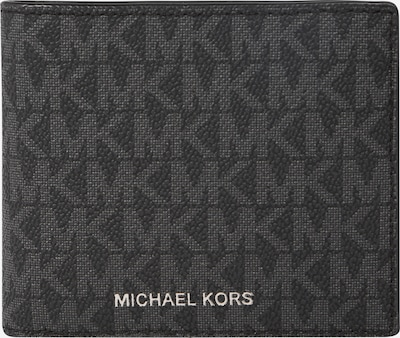 Michael Kors Porte-monnaies 'Billfold W' en anthracite / noir, Vue avec produit