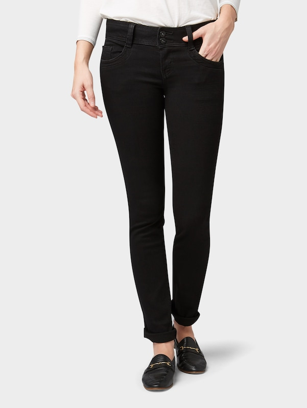 TOM TAILOR Jeans in black denim: Frontalansicht