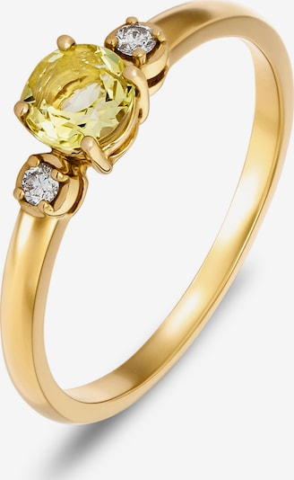 CHRIST Ring in pastellgelb / gold / transparent, Produktansicht