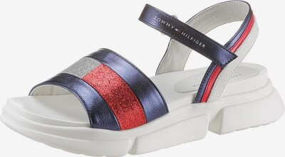 TOMMY HILFIGER Sandale in blau / rot / silber, Produktansicht