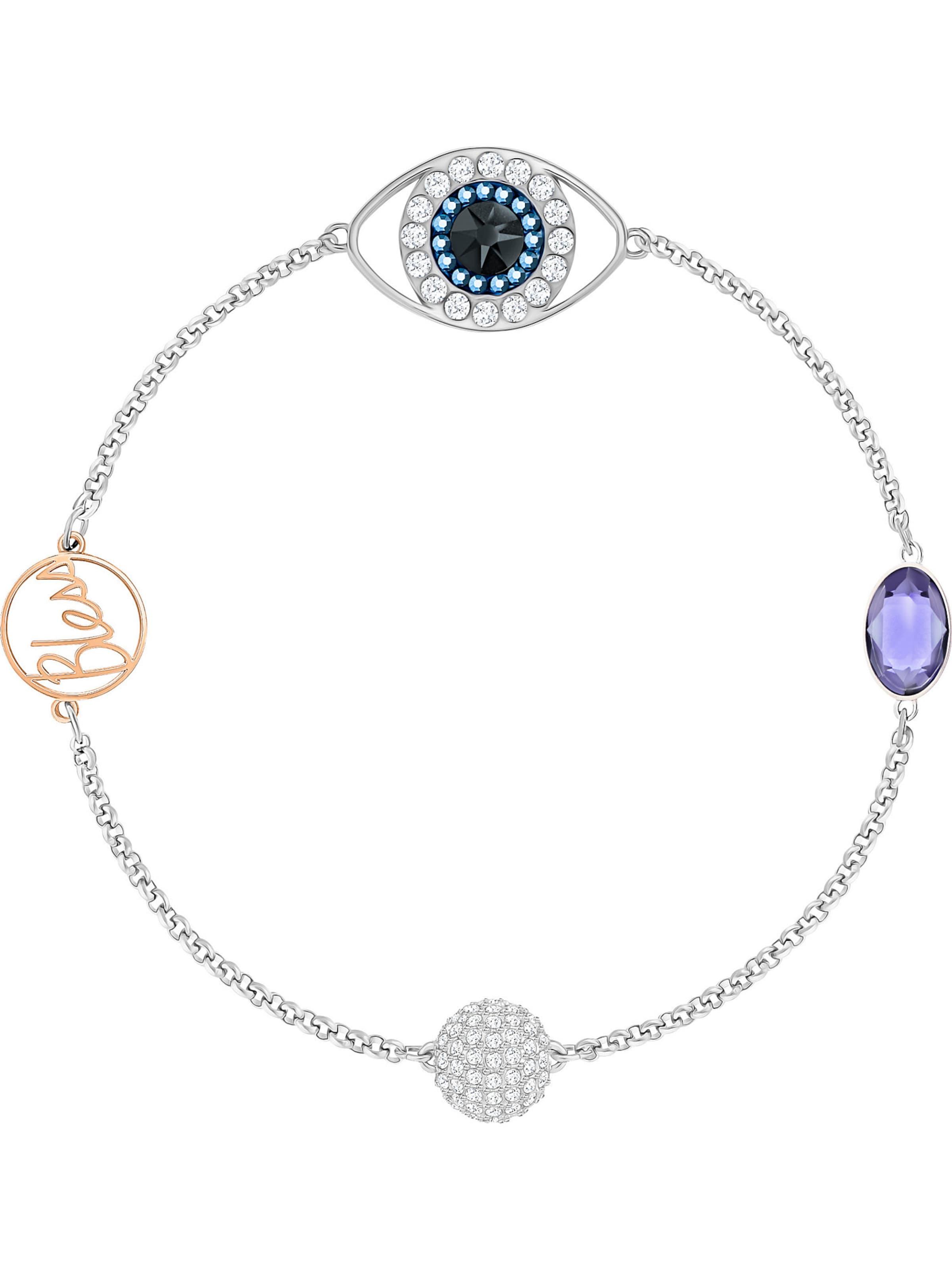 In HellblauRosegold Silber Armband Helllila Transparent Swarovski 'eye' dBerCxo