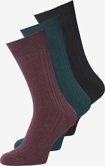 JACK & JONES Sokken in de kleur Smaragd / Bessen / Zwart, Productweergave