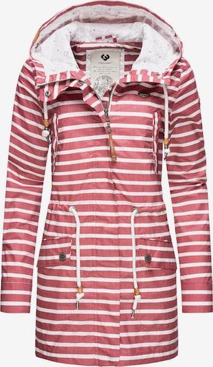 Ragwear Regenjacke ' Barunka Stripes ' in rot, Produktansicht