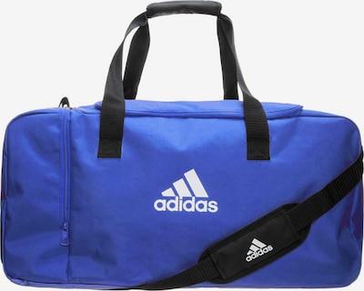 ADIDAS PERFORMANCE Fußballtasche 'Tiro Duffel Small' in blau / schwarz / weiß, Produktansicht