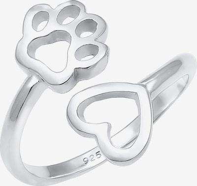 Nenalina Ring 'Herz, Pfote' in de kleur Zilver, Productweergave