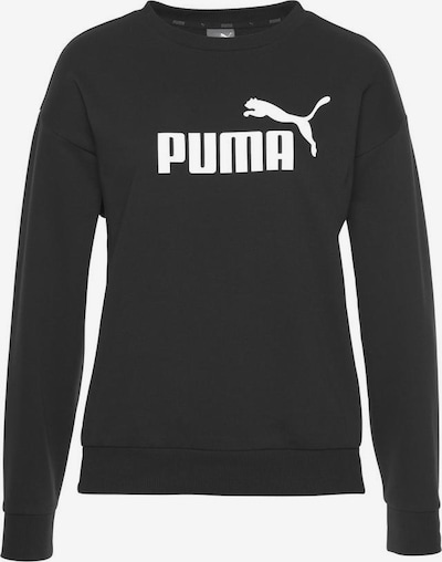 PUMA Sportief sweatshirt 'Essentials' in de kleur Zwart / Wit, Productweergave