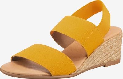 Paul Vesterbro Keilsandaletten in gelb, Produktansicht