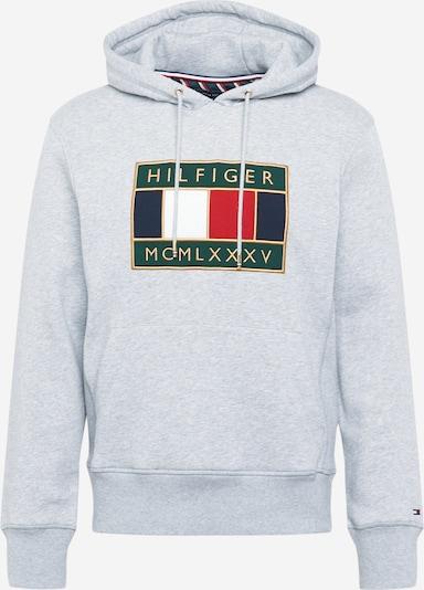 TOMMY HILFIGER Sweatshirt in de kleur Donkerblauw / Goud / Grijs gemêleerd / Rood / Wit, Productweergave