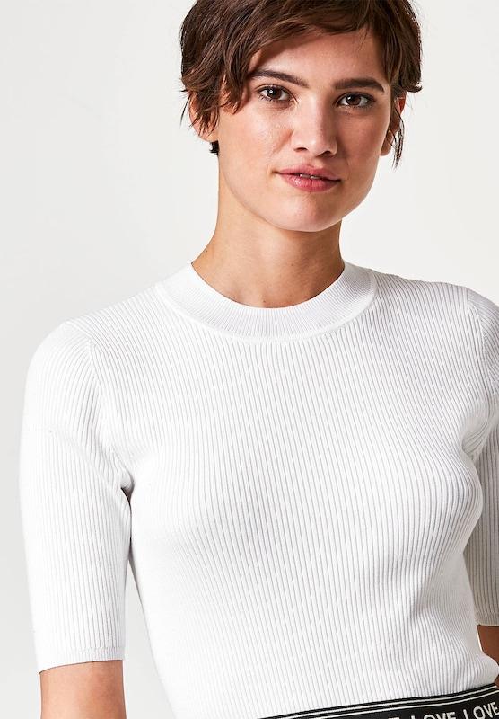 HALLHUBER Halbarm-Pullover mit Stehkragen