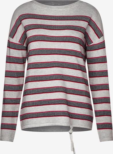 CECIL Pullover in rot / schwarz / weiß / weißmeliert, Produktansicht