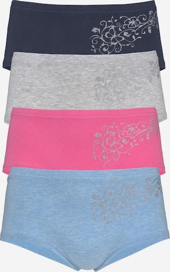 PETITE FLEUR Pantys in marine / rauchblau / graumeliert / pink, Produktansicht