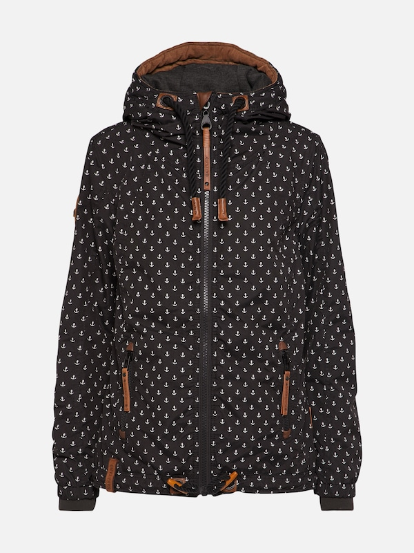 Naketano Kifferboarder V hoodie blue heather brown