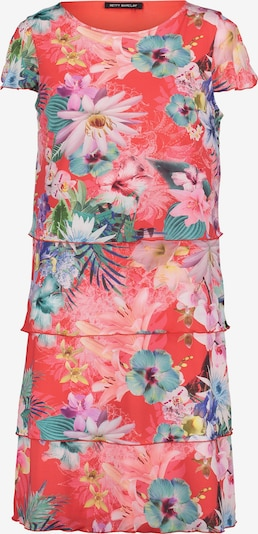 Betty Barclay Stufenkleid mit Flügelärmeln in dunkelblau / pink, Produktansicht
