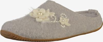 Living Kitzbühel Hausschuhe in grau / weiß, Produktansicht