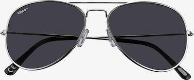 ZIPPO Sonnenbrille Smoke polarized Silber Pilot in grau, Produktansicht