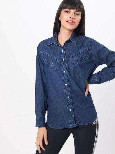 LEVI'S Bluse 'DORI' in blue denim, Modelansicht