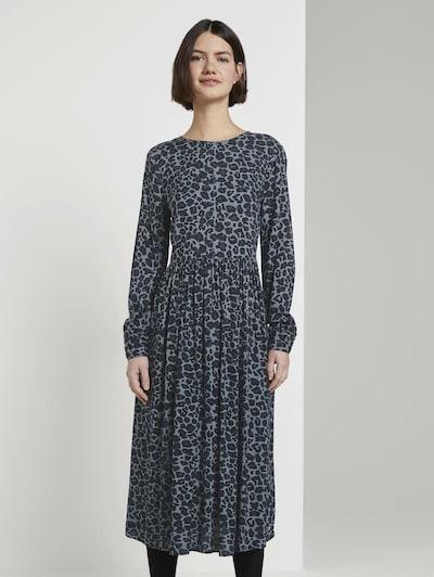 TOM TAILOR DENIM Kleid in grau / basaltgrau, Modelansicht