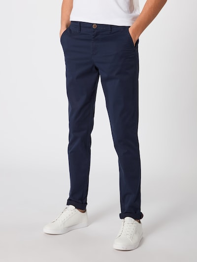 JACK & JONES Pantalon chino 'NOOS - JJIMARCO JJBOWIE SA NAVY BLAZER NOOS' en bleu marine, Vue avec modèle