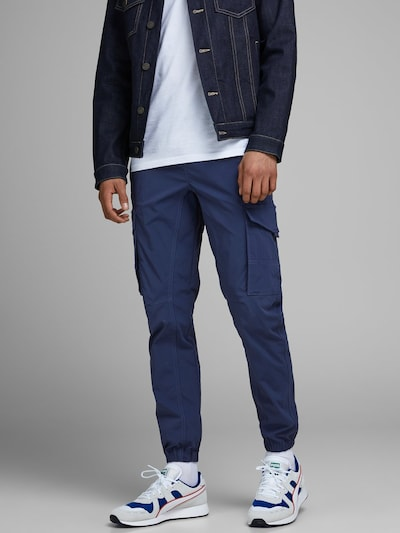 JACK & JONES Cargohose in blau, Modelansicht