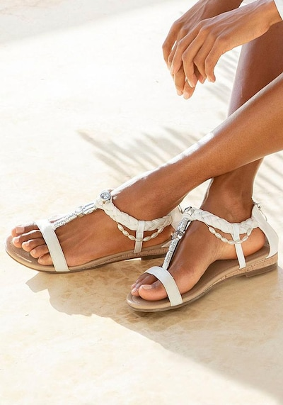 LASCANA Sandale in weiß: Frontalansicht