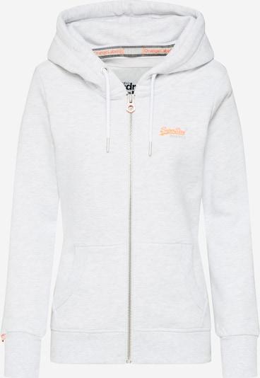Superdry Sweatvest 'Orange' in de kleur Lichtgrijs, Productweergave