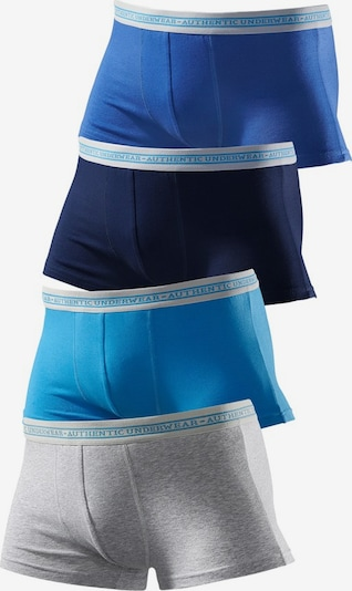 LE JOGGER Boxer in royalblau / ultramarinblau / himmelblau / graumeliert, Produktansicht